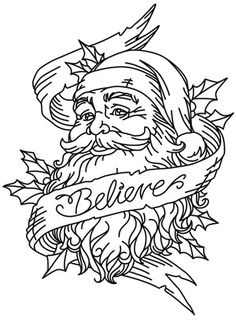 Believe in Santa | Urban Threads: Unique and Awesome Embroidery Designs