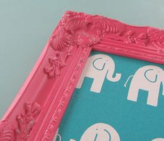 Pink Ornate Magnetic Board Playroom Decor Cork by theDezignShoppe, $55.00