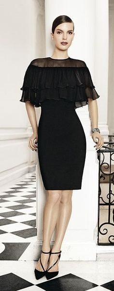 Max Mara | London Style.  Don't care for the shoes at all but I love the lbd
