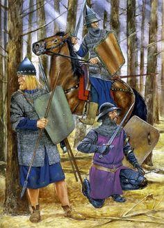 Guerreros polacos y lituanos en el siglo XIV. Más en www.elgrancapitan.org/foro