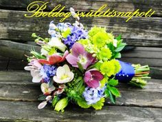 Wedding bouquet - pansies and hellebores