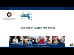 Intro to Zoom for Families - YouTube Families, Education, Youtube, My Family, Learning, Youtubers, Youtube Movies, Teaching