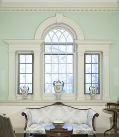 Palladian Window in Cross Hall at the Winterthur Museum. Interview with Brent Hull on Architects + Artisans.