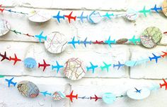 A festive garland to keep as inspiration or to use as decoration for a future, grand ~going away~ party.