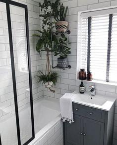 Bathroom Decor spa 17 Bathroom Plants That Were Styled . Old Bathrooms, Chic Bathrooms, Modern Bathroom, Small Bathroom, Bathrooms With Plants, Best Bathroom Plants, Bathroom Grey, Minimalist Bathroom, Master Bathroom