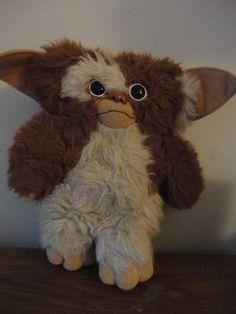 "1984 Gremlins Gizmo Toy by Applause Brown White Stuffed Plush 11"" 1980s Mogwai   eBay"