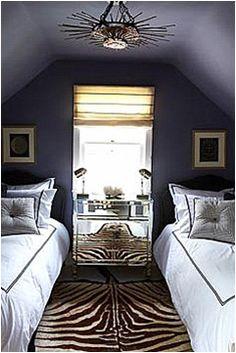 New Bedroom White Carpet Navy Walls Ideas Farmhouse Master Bedroom, Master Bedroom Makeover, White Bedroom, Upstairs Bedroom, White Bedding, Angled Ceilings, Slanted Walls, The Design Files, Bedroom Carpet
