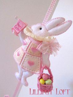 Alice In Wonderland White Rabbit Mobile by lilliputloft on Etsy - £32.94