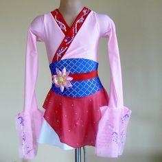 Figure Skating Dress  Inspired by Mulan Size 2T through Girls 5. $165.00, via Etsy.