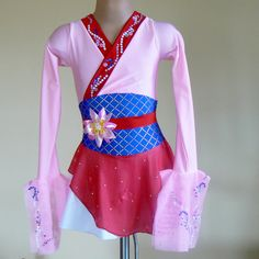 Figure Skating Dress  Inspired by Mulan Sizes Girls 6 - Girls 7 - Girls 8 on Etsy, $225.00