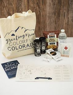 Give Your Guests a Wedding Welcome Bag They Want (and Need!) - We did not have or need alcohol at our wedding, but this is a great (and beautiful) list for guest welcome bags.