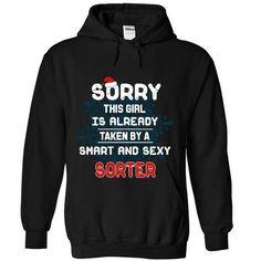 18 I LOVE MY Sorter - #country shirt #sweater. PURCHASE NOW => https://www.sunfrog.com/Christmas/18-I-LOVE-MY-Sorter-4322-Black-Hoodie.html?68278