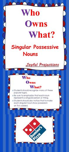 Great book for possessive nouns classroom ideas pinterest what a great way to get your students to start recognizing the everyday uses of apostrophes fandeluxe Gallery