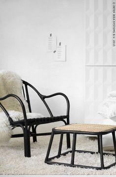 Een gezellig leeshoekje. NIPPRIG 2015 fauteuil en voetenbank #NIPPRIG #IKEA