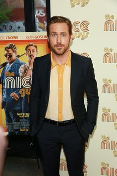 """Ryan Gosling attends the New York Screening of """"The Nice Guys"""" at Metrograph on May 12, 2016 in New York City."""