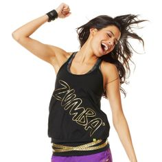 High Tech Tank |  Brand New ZumbaWear Gold collection save 10% with affiliate code 10SALE on zumba.com  http://www.zumba.com/user/affiliates/affiliate-shop/?affil=10sale