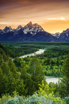Grand Teton, take the kids camping here :)