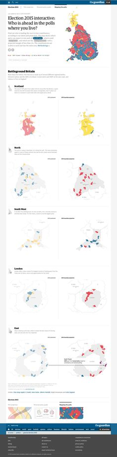 Election 2015 interactive: Who is ahead in the polls where you live? By The Guardian