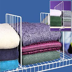 Shelf Dividers Effortlessly Slide Onto Closet Shelves To Create Instant  Structure For Messy Piles Of Sweaters