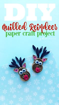 We love paper quilling and this quilled reindeer craft is so fun! Enjoy this fun and easy Rudolph quilled paper how-to to make your own keepsake! Quilling Images, Paper Quilling Cards, Paper Quilling Patterns, Quilled Paper Art, Quilling Paper Craft, Diy Paper, Quilling Ideas, Free Paper, Quilling Christmas
