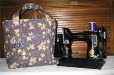 Quilted Featherweight Machine Tote Bag Pattern SBK-005