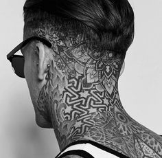 Get inspired: 24 head tattoos - let yourself be .- Lassen Sie sich inspirieren: 24 Kopf-Tattoos – Lassen Sie sich inspirieren: 24 … Get inspired: 24 head tattoos – Get inspired: 24 head tattoos – FASHION UNCENSORED Badass Tattoos, Body Art Tattoos, New Tattoos, Sleeve Tattoos, Mens Neck Tattoos, Black Tattoos, Tattoo Nape, Throat Tattoo, Neck Tattoo For Guys