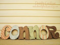 Customized Distressed Wooden Letters