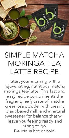 Packed full of energy, immune boosting, detoxifying and cholesterol lowering properties, all the benefits of Matcha Tea, with the addition of Superfood leaf powder from the World's most nutritious tree, Moringa Olifeira. High antioxidant superfoods A wide range of vitamins & minerals Contains powerful Catechin, EGCg For heart health and regulating blood sugar Antimicrobial and antibacterial properties Contains vitamins A, B-complex, C, E & K Contains calcium, potassium and protein