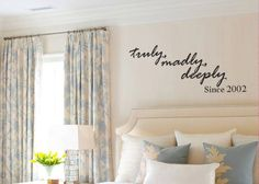 Wall quote for bedroom