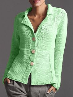 Paneled Solid Buttons Down Ribbed Knitted Cardigan - Sweaters & Cardigans - - Paneled Solid Buttons Down Ribbed Knitted Cardigan – Sweaters & Cardigans Tejer Gratis Paneled Solid Buttons Down Ribbed Knitted Cardigan – Sweaters & Cardigans Cardigan En Maille, Sweater Cardigan, Casual Sweaters, Long Sweaters, Sweater Shop, Cami Tops, Cardigans For Women, Pulls, Kyoto