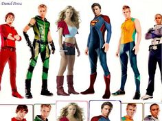 Smallville Justice League: Superman,Supergirl,Flash(Impulse),Green Arrow,Aquaman,Cyborg