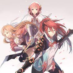 Fire Emblem: if/Fates - Kazahana/Hana, Sakura, Tsubaki/Subaki