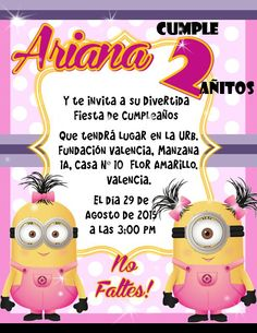 Invitación de Fiesta de Minions