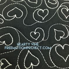 Learn how to machine quilt Hearty Vine with a free video here: http://freemotionquilting.blogspot.com/2015/11/how-to-machine-quilt-hearty-vine-452.html