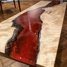 River table bespoke - Epoxy resin table tops - A unique table one of a kind made to order only. ( please note the picture is of a table sold .