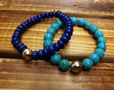 Blue lapis bracelet Lapis Stretch bracelet Lapis by lyrisgems