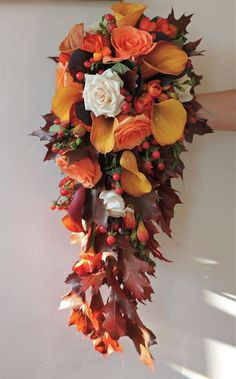 Fall Wedding Flower Arrangement | Wedding Flowers Blog: Alison's Autumn Wedding Flowers, Rownhams House