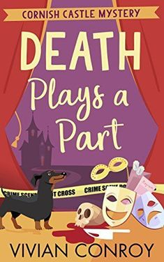 BOOK REVIEW Death Plays A Part Cornish Castle Mystery Book 1 by Vivian Conroy  Guinevere arrives at Cornisea castle in Cornwall to take up a summer job cataloging the treasured books of Lord  #murder #mustread #Cornwall