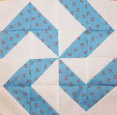 Block made from half square triangles