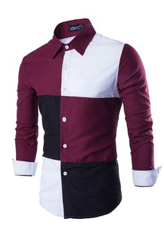 Color Block Slim Fit Shirt Striped Long Sleeve Shirt, Long Sleeve Shirts, Mens Designer Shirts, Chanel Couture, Slim Fit Dress Shirts, African Men Fashion, Branded Shirts, Suit Fashion, Workout Shirts