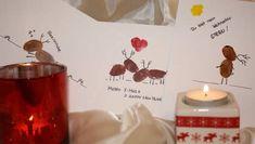 Weihnachtskarten mit Fingerabdruck-Elchen