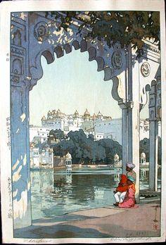Udaipur-the palace of Udaipur, India, 1931. Castle Fine Arts