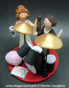 Percussionist Wedding Cake Topper $235 http://www.magicmud.com   1 800 231 9814 email  magicmud@magicmud.com  http://blog.magicmud.com  https://twitter.com/caketoppers         https://www.facebook.com/PersonalizedWeddingCakeToppers #wedding #cake #toppers  #custom #personalized #Groom #bride #anniversary #birthday#weddingcaketoppers#cake toppers#figurine#gift#wedding cake toppers #drummer#drumming#drum#percussionist#rocknroll#rockStar#rockGod#musician
