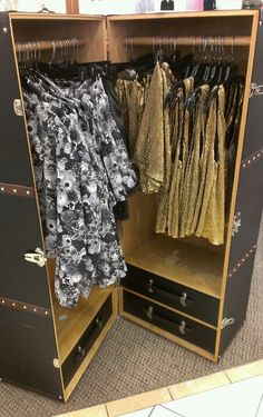 Great idea for a room with no closet! :)