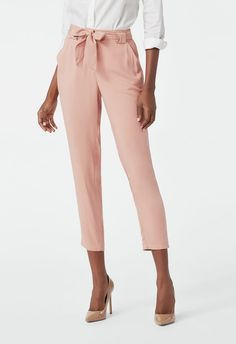 2a7e65a75fc9 JustFab Tie Front Skinny Trouser Womens Beige Pink Size XXL Trouser  Outfits