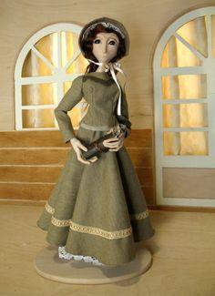 Victorian Art Doll Polymer Clay Handmade Doll by forgottendolls, $218.00