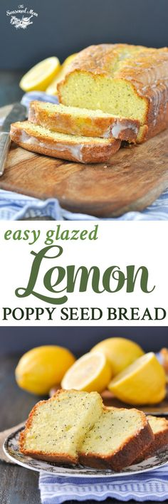 Just 10 minutes of prep for this freezer-friendly spring treat: Easy Glazed Lemon Poppy Seed Bread! It starts with a cake mix for a simple, quick-prep recipe that's perfect for brunch, snack, or a light dessert! Lemon Desserts, Lemon Recipes, Köstliche Desserts, Delicious Desserts, Dessert Recipes, Cake Recipes, Baking Recipes, Breakfast Bread Recipes, Best Breakfast