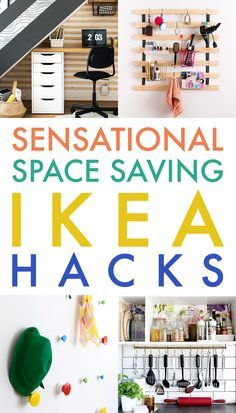 If you are looking for inexpensive ways to save space…check out these Sensational Space Saving IKEA Hacks. - Home Decor Space Saving Furniture Ikea, Ikea Furniture, Furniture Ideas, Furniture Online, Kitchen Furniture, Ikea Hacks, Diy Hacks, Patio Ikea, Space Saving Ideas For Home