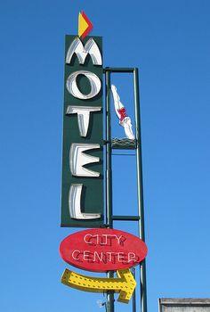 City Center Diving Lady Motel Sign, San Jose