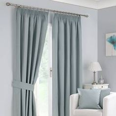 Excellent collection of ready made pencil pleat curtains perfect for all rooms in your home. Fully lined pencil pleat curtains and blackout pencil pleat curtains, all available from Dunelm. Pleated Curtains, Blackout Curtains, Curtains Dunelm, Bedroom Curtains, Lounge Curtains, Duck Egg Blue Bedroom, Duck Egg Blue Curtains, Memory Foam Mattress Topper, Jalousies